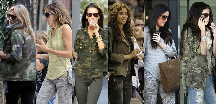 Risultato immagini per Camouflage: La moda militare mimetica al femminile