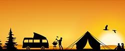 Barbecue in campeggio