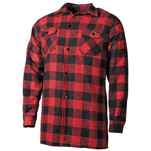 sneakers for cheap 8a02e be796 Camicia Boscaiolo Scacchi Rosso Nero Fox Outdoor