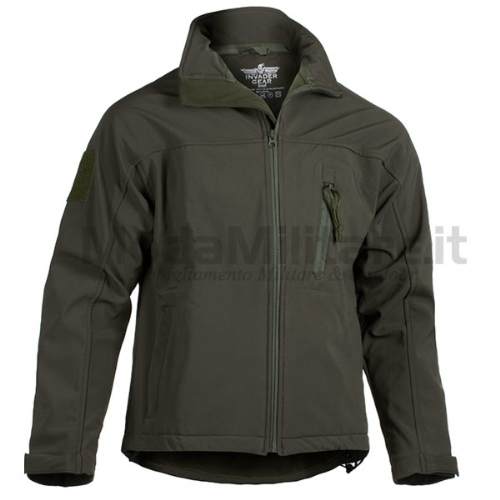 Giacca Softshell Tactical OD Green - Invader Gear