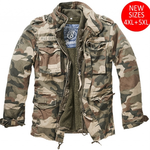 Giacca Militare M-65 Giant Light Woodland - Brandit