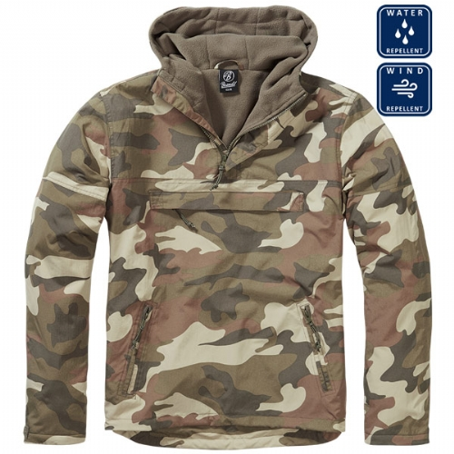 Giacca Windbreaker Light Woodland - Brandit