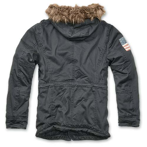 Foto aggiuntiva Parka Vintage Explorer Stars and Stripes Black Brandit