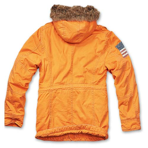 Foto aggiuntiva Parka Vintage Explorer Stars and Stripes Orange Brandit