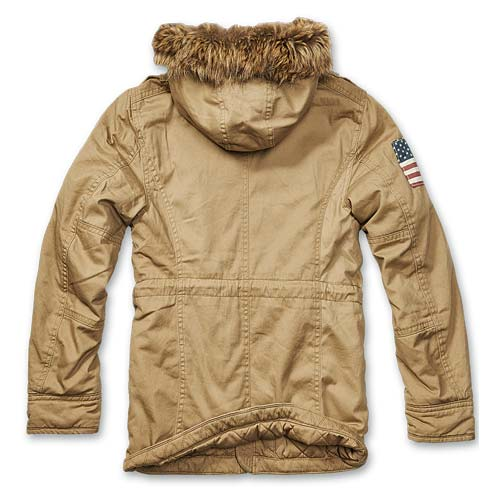 Foto aggiuntiva Parka Vintage Explorers Stars and Stripes Tan Brandit
