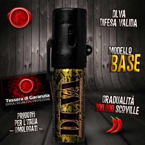 Spray peperoncino di va base mimetico 15 ml - Spray al peperoncino diva top camo ...