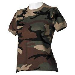 US T-Shirt Militare Woodland Donna