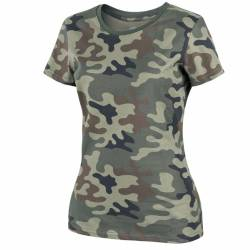 T-Shirt Militare Donna in Cotone PL Woodland - Helikon Tex
