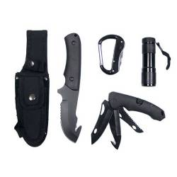 Coltello con Torcia LED Nero