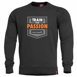 Felpa Hawk Train Your Passion Nera - Pentagon