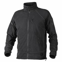 Giacca Alpha Tactical in Grid Pile Nera - Helikon Tex