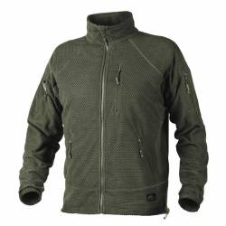Giacca Alpha Tactical in Grid Pile Olive Green - Helikon Tex