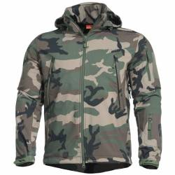 Giacca Militare Softshell Artaxes Woodland - Pentagon