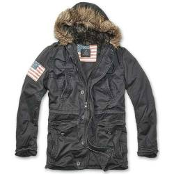 Parka Vintage Explorer Stars and Stripes Black Brandit
