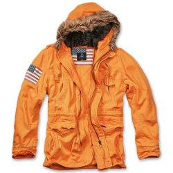 Parka Vintage Explorer Stars and Stripes Orange Brandit