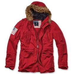 Parka Vintage Explorer Stars and Stripes Red Brandit
