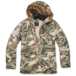 Parka Vintage Explorer Stars and Stripes Woodland Brandit