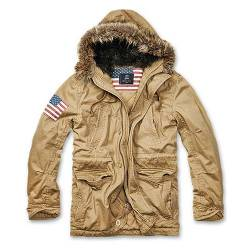 Parka Vintage Explorers Stars and Stripes Tan Brandit