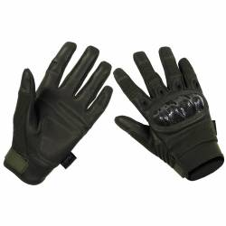 Guanti Tattici Mission Carbon-Look OD Green - MFH
