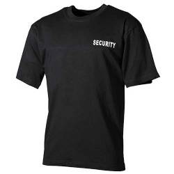 T-shirt SECURITY Nera