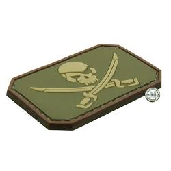 Patch 3D PVC Jolly Roger OD Green BE-X