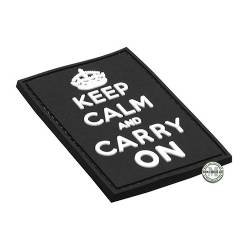 Patch 3D PVC Keep Calm And Carry On Nera BE-X