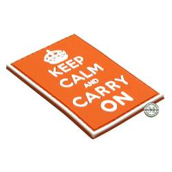 Patch 3D PVC Keep Calm And Carry On Orange BE-X