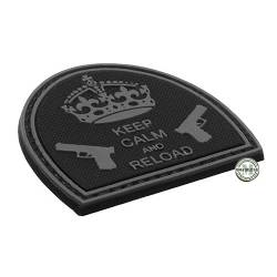 Patch 3D PVC Keep Calm And Reload Nera BE-X