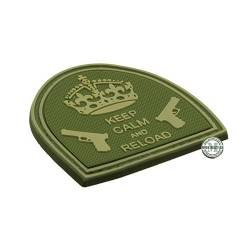 Patch 3D PVC Keep Calm And Reload OD Green BE-X
