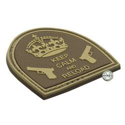 Patch 3D PVC Keep Calm And Reload Tan BE-X