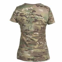 T-Shirt Militare Donna in Cotone Multicam - Helikon Tex