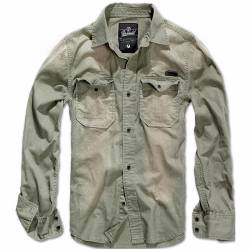 Camicia Hardee Denim Look Olive-Grey - Brandit