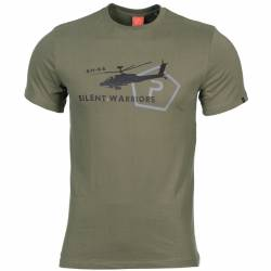 T-Shirt in Cotone Helicopter OD Green - Pentagon
