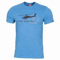 T-Shirt in Cotone Helicopter Pacific Blue - Pentagon