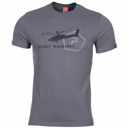 T-Shirt in Cotone Helicopter Wolf Grey - Pentagon